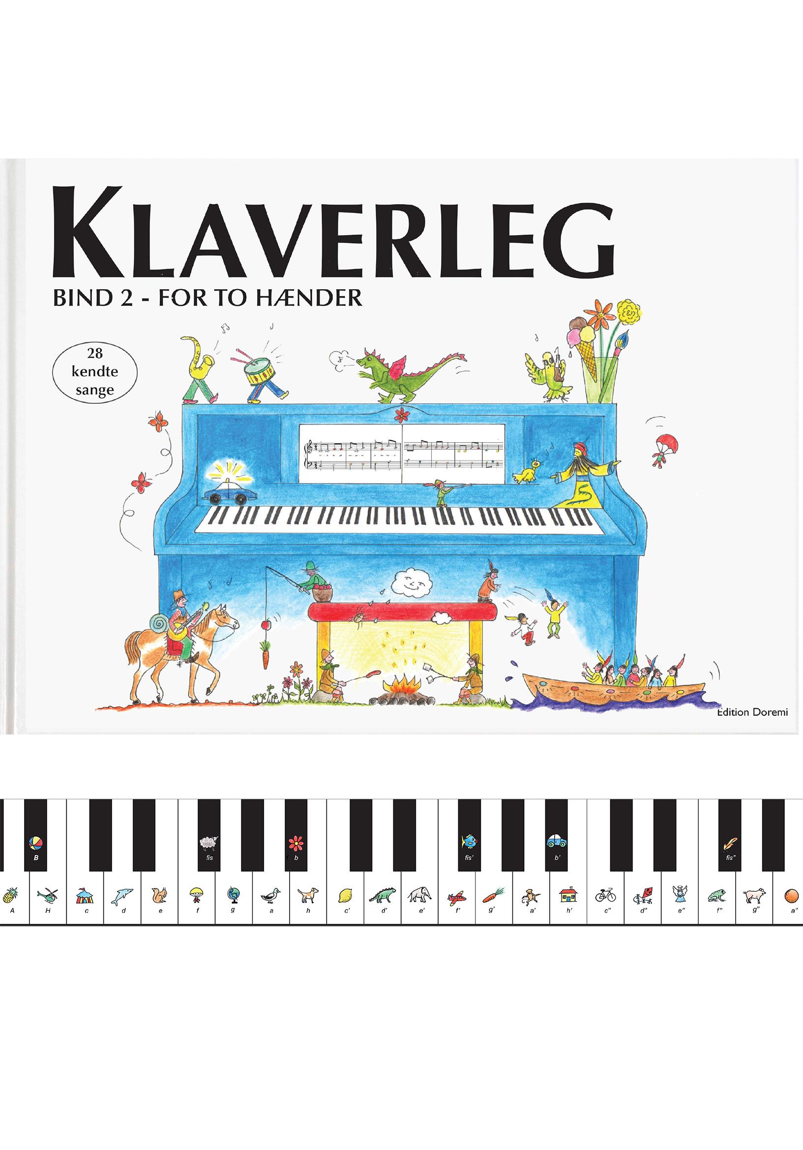 Klaverleg: Klaverleg bind 2 - for to hænder (blå) - Pernille Holm Kofod - Bøger - Edition Doremi ApS - 9788793603035 - 22/4-2020