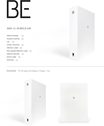 BE (DELUXE EDITION) - LIMITED - BTS - Musik - Big Hit Entertainment - 8809633189159 - 20/11-2020