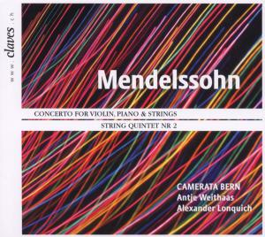 Concerto for Violin, Piano and String - Mendelssohn / Bartholdy, F. - Musik - CLAVES - 7619931110226 - 12/11-2018