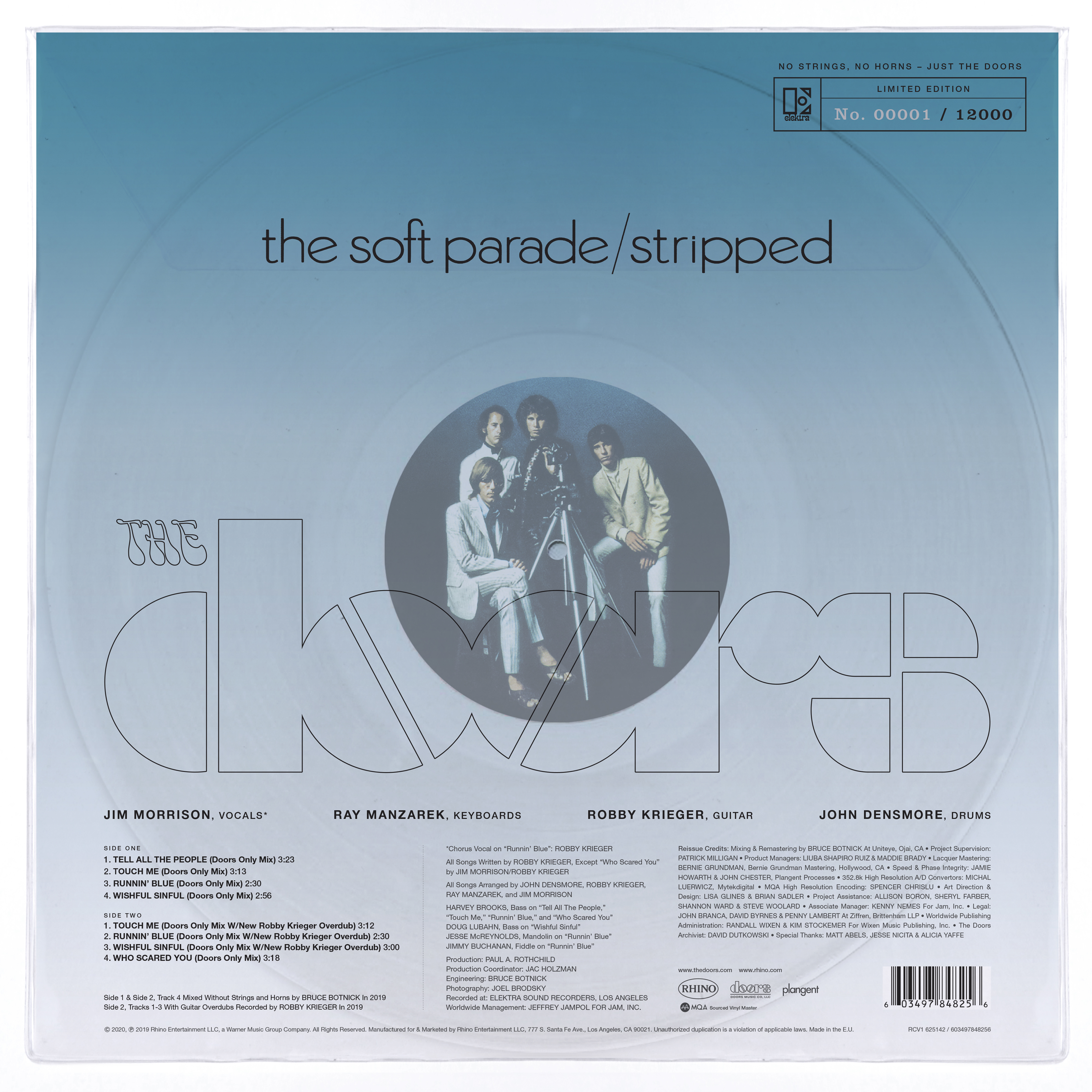 The Soft Parade: Stripped - The Doors - Musik - Warner Music - 0603497848256 - 26/9-2020