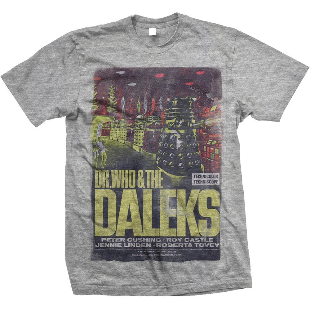 StudioCanal Unisex Tee: Doctor Who & The Daleks - StudioCanal - Merchandise - Bravado - 5055979920472 -