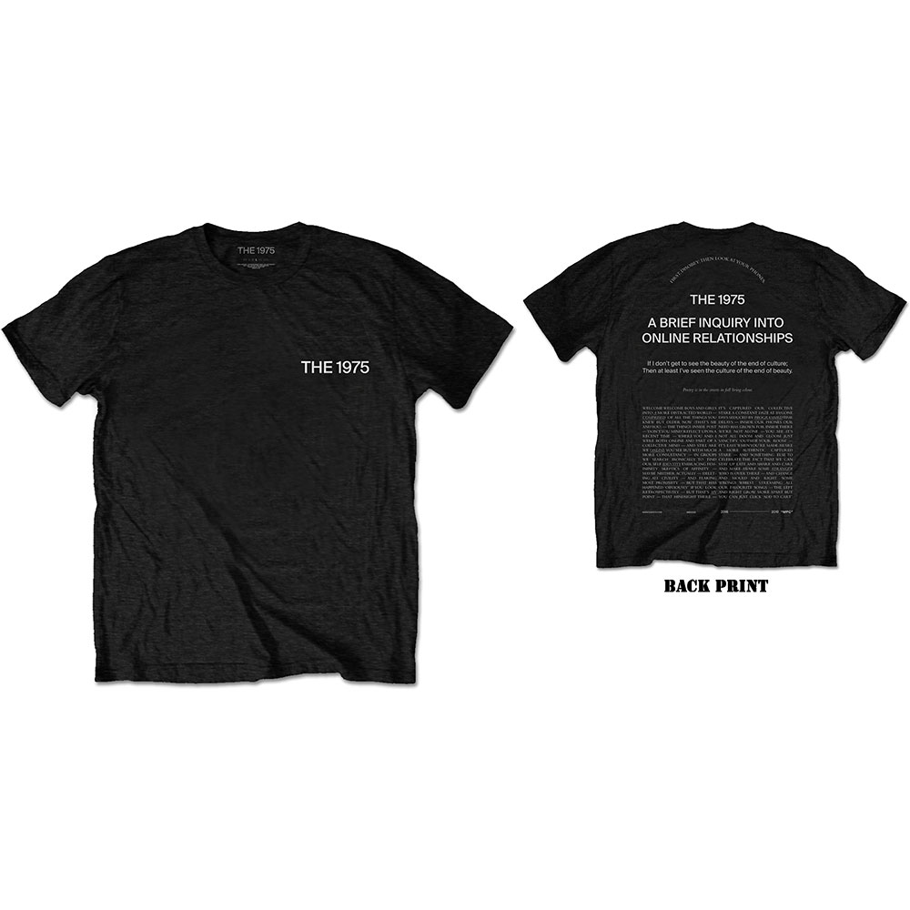 The 1975 Unisex Tee: ABIIOR Wecome Welcome (Back Print) - 1975 - The - Merchandise -  - 5056170682633 -