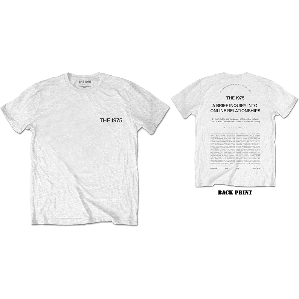The 1975 Unisex Tee: ABIIOR Wecome Welcome (Back Print) - 1975 - The - Merchandise -  - 5056170682688 -