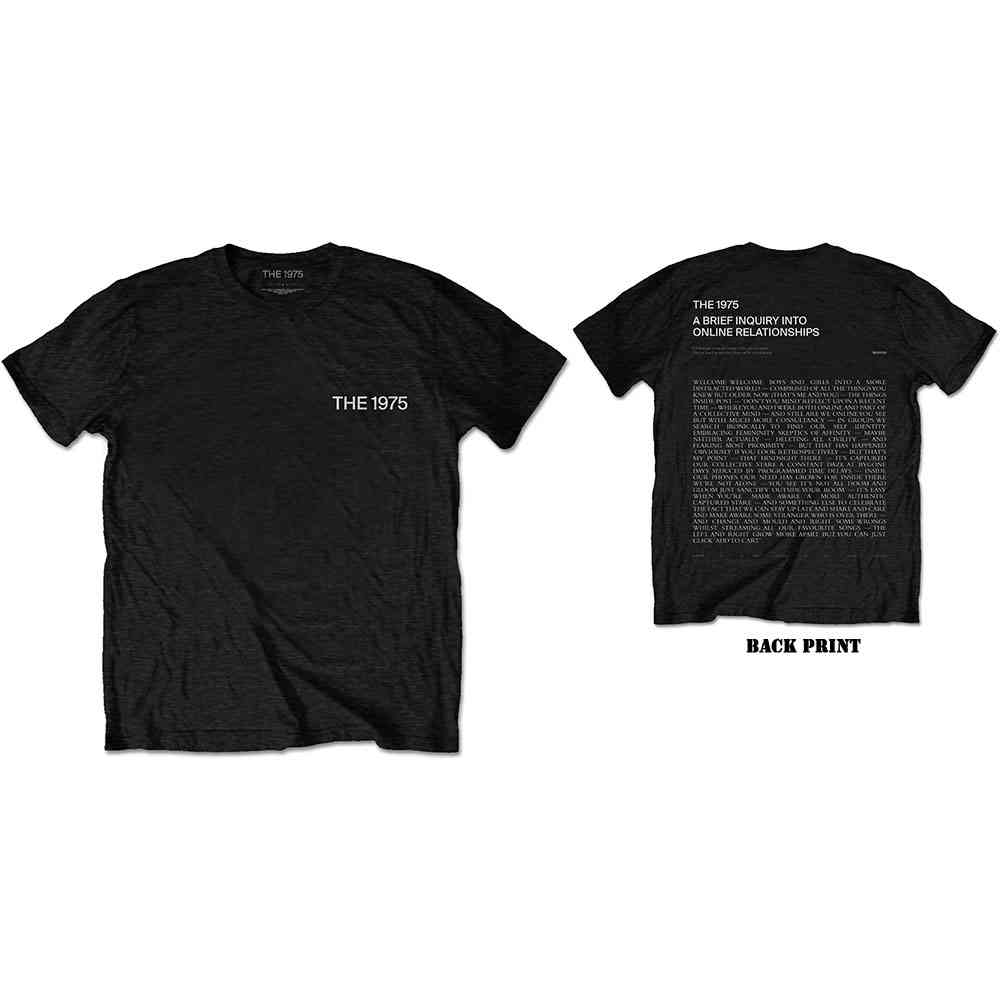 The 1975 Unisex Tee: ABIIOR Wecome Welcome Version 2. (Back Print) - 1975 - The - Merchandise -  - 5056170682732 -