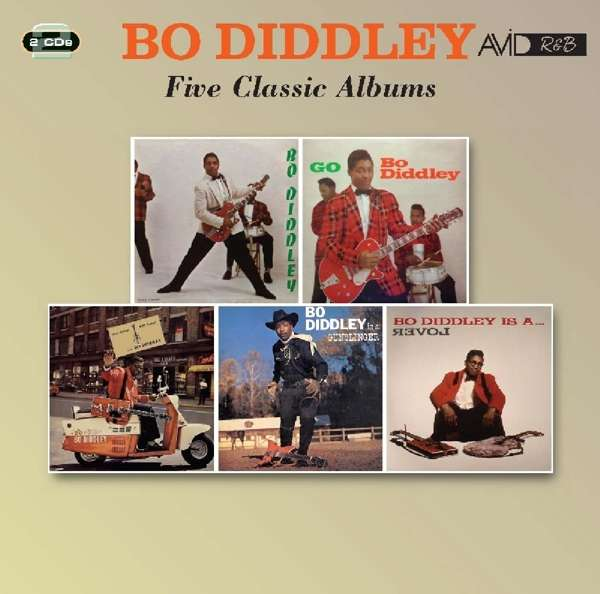 Five Classic Albums (Bo Diddley / Go Bo Diddley / Have Guitar Will Travel / Bo Diddley Is A Gunslinger / Bo Diddley Is A Lover) - Bo Diddley - Musik - AVID - 5022810722922 - 4/5-2018