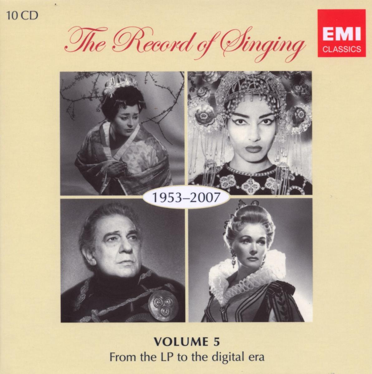Record of Singing 1953-2007 - V/A - Musik - EMI - 5099922894922 - 16/1-2018