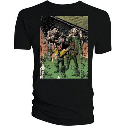 2000 AD Unisex Tee: Dredd & Ladies Bolland Cover Art - Judge Dredd & 2000 AD - Merchandise -  - 5052473031925 -
